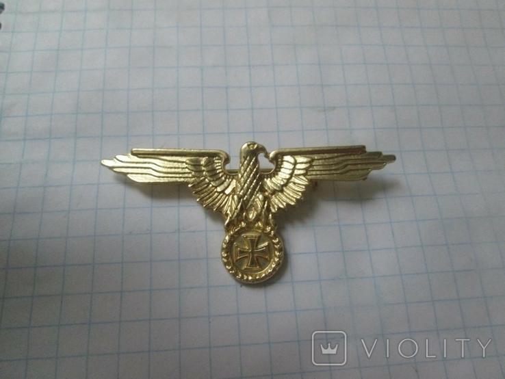 Значок орел (сувенир) в бронзе, фото №3