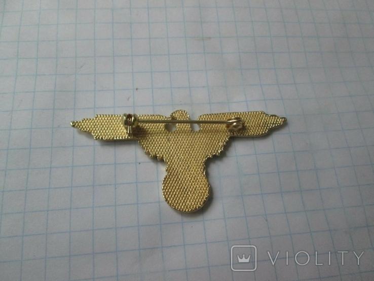 Значок орел (сувенир) в бронзе, фото №4