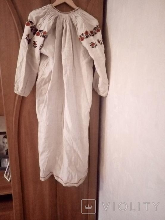 Старинная льняная рубашка с вышивкой, фото №2