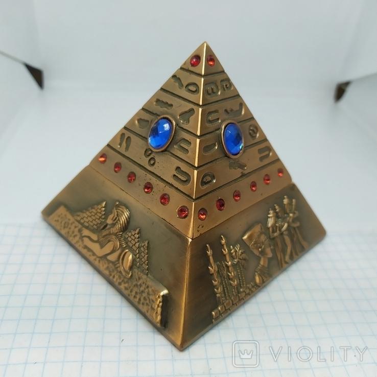 Пепельница в виде Египетской пирамиды. Высота 80мм, фото №2