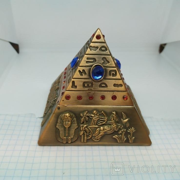 Пепельница в виде Египетской пирамиды. Высота 80мм, фото №5