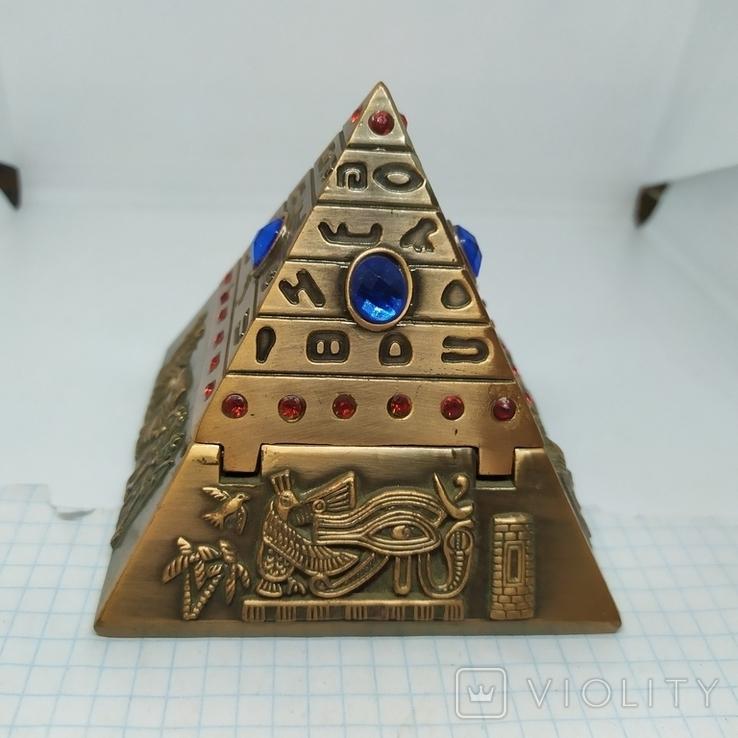 Пепельница в виде Египетской пирамиды. Высота 80мм, фото №7