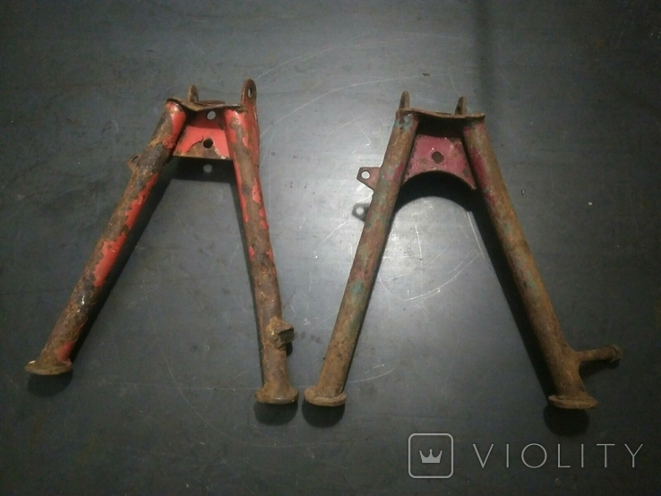 Подножки, центральные подставки к советским мопедам 2шт., фото №2