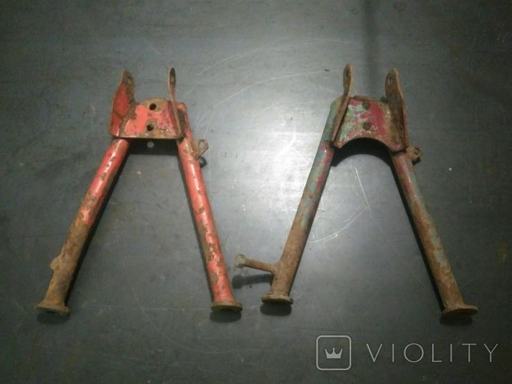 Подножки, центральные подставки к советским мопедам 2шт., фото №3