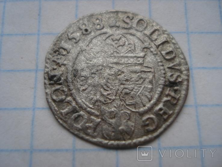 Солід 1588р. Сигізмунд ІІІ Ваза. Олькуш, фото №3
