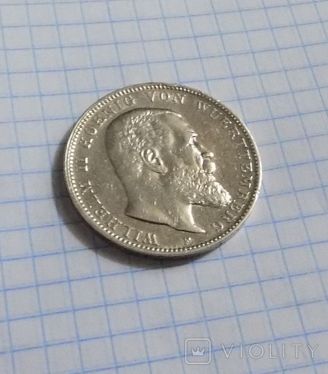 3 марки 1908 г. Вюртемберг., фото №3