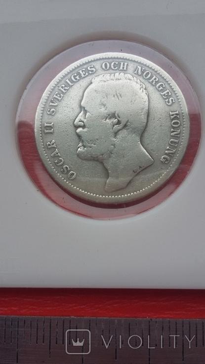 Шведские кроны в серебре три шт., фото №4