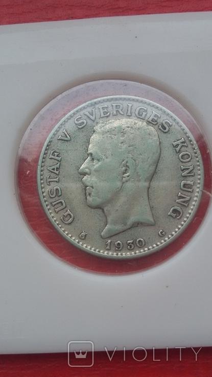 Шведские кроны в серебре три шт., фото №5