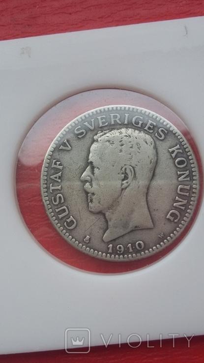 Шведские кроны в серебре три шт., фото №6