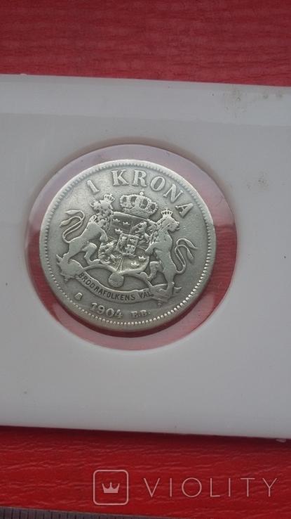 Шведские кроны в серебре три шт., фото №10