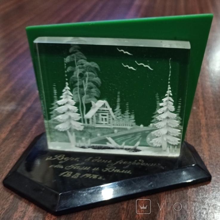 Настольный сувенир зима в деревне СССР., фото №2