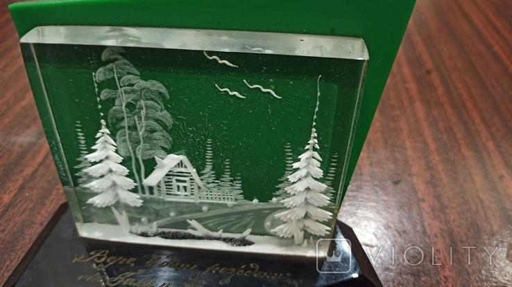 Настольный сувенир зима в деревне СССР., фото №3