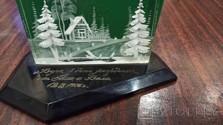 Настольный сувенир зима в деревне СССР., фото №4