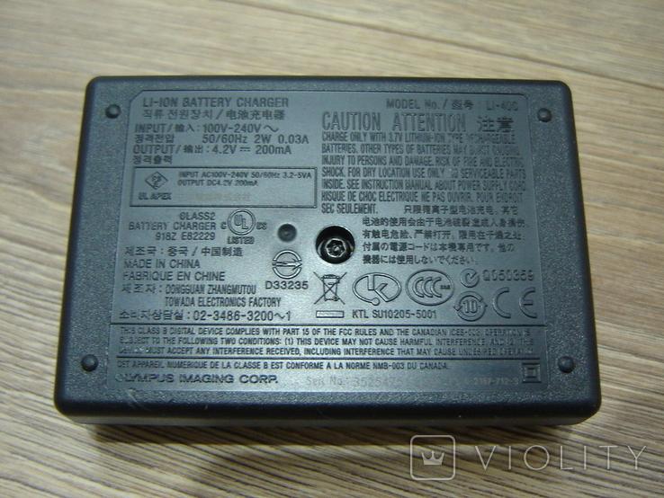 Зарядное Olympus LI-40C, фото №7