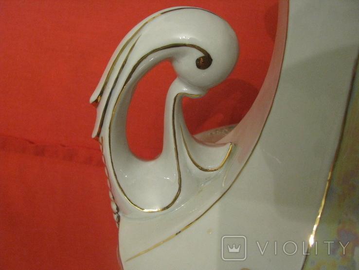 Ваза - фарфор - ручная работа - высота - 59 см., фото №8