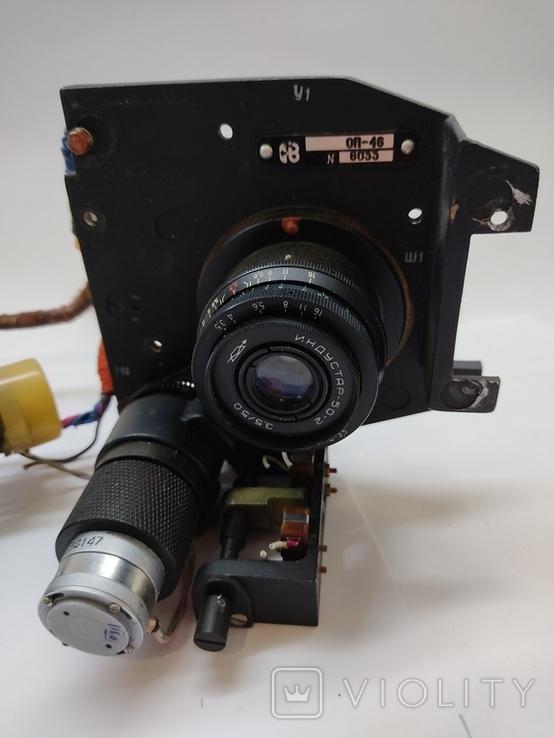 Объектив Индустар 50 2 с видеокамерой от камеры видеонаблюдения времён СССР, фото №3