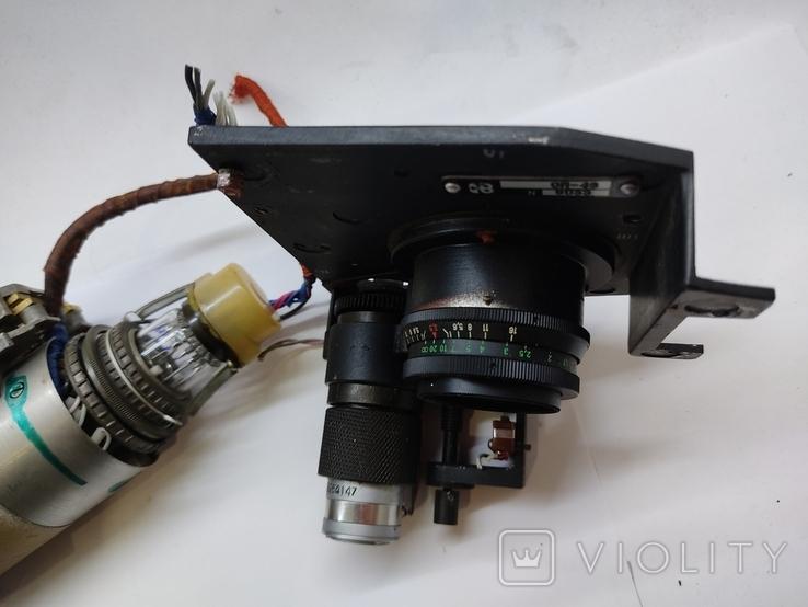 Объектив Индустар 50 2 с видеокамерой от камеры видеонаблюдения времён СССР, фото №4