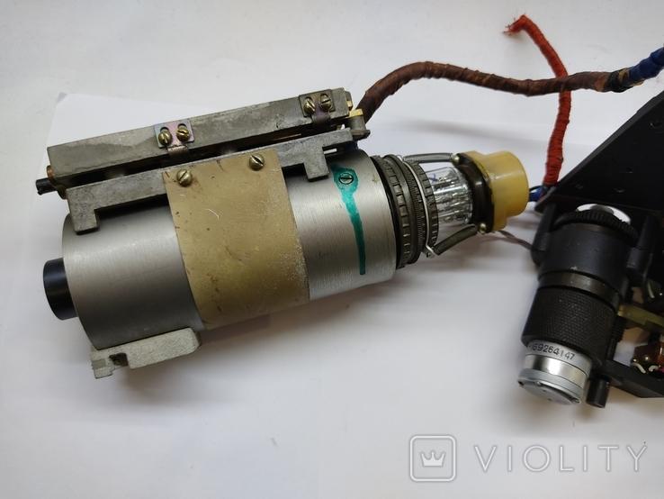 Объектив Индустар 50 2 с видеокамерой от камеры видеонаблюдения времён СССР, фото №5