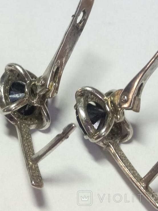 Кольцо и серьги с камнем серебро., фото №9