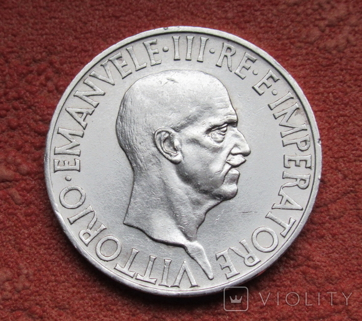 10 лир 1936 г. Италия, серебро, фото №5