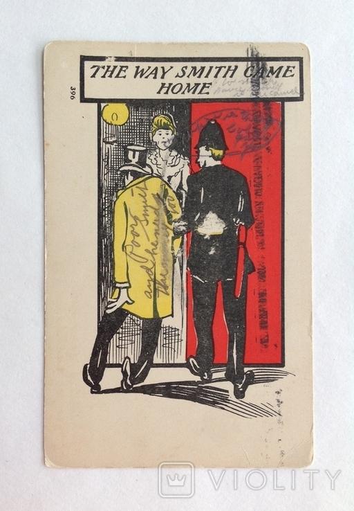 1907 Открытка юмор сатира Америка, фото №3