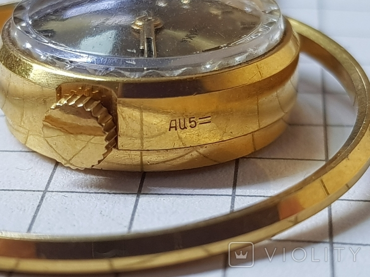 Часы-кулон Чайка AU5 с цепочкой, фото №7