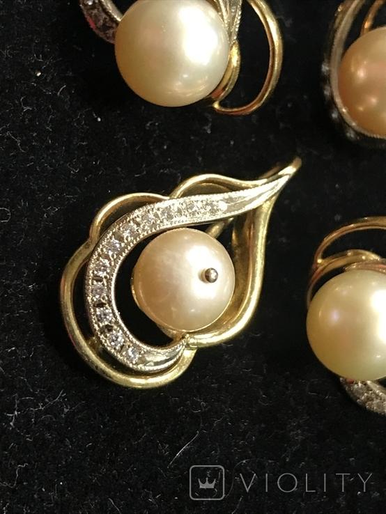 Золотой женский набор 750 проба КЮЗ, фото №3