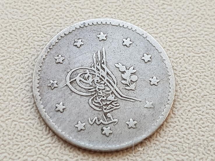 Турция 1 КУРУШ 1849 Серебро, фото №3