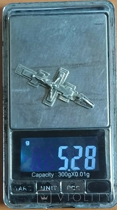 Крест серебро, фото №3