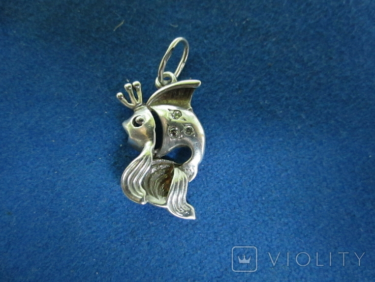 Кулон рыбка серебро., фото №2