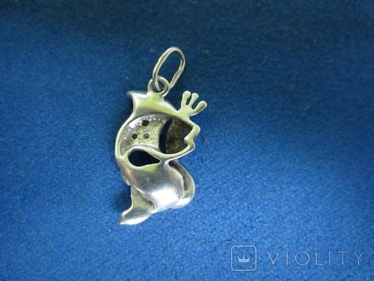 Кулон рыбка серебро., фото №5