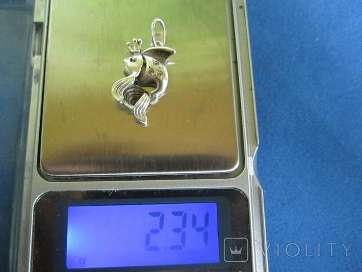 Кулон рыбка серебро., фото №9