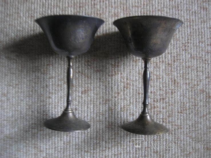 Два бокала латунные, фото №4