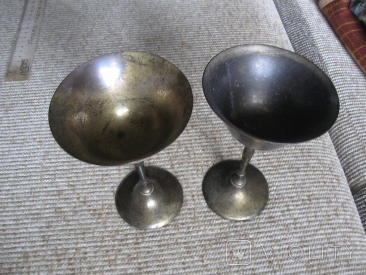 Два бокала латунные, фото №6