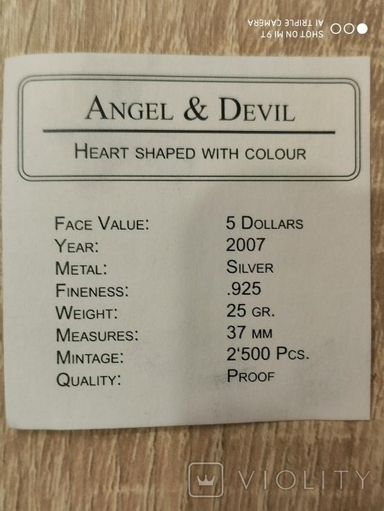 5 dollars Angel and Devil (Proof), фото №5