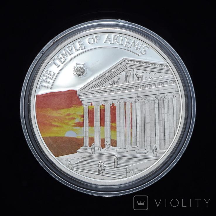 5 Долларов 2013 Семь Чудес Света - Храм Артемиды, Палау, фото №2
