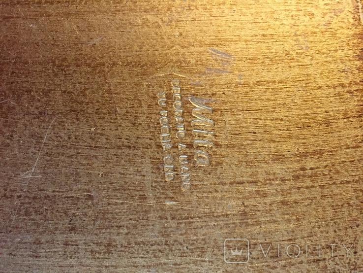 Винтажный флорентийский деревянный поднос, фото №3