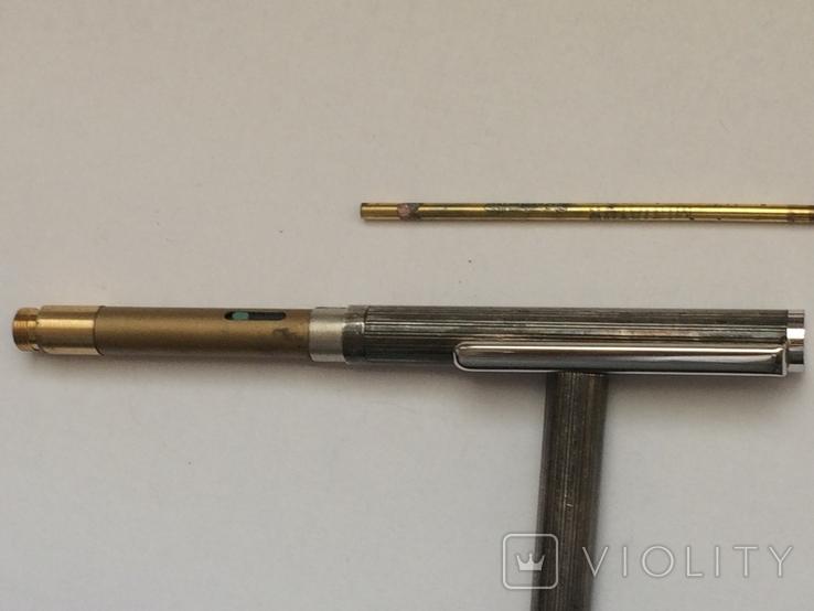 Серебряная шариковая ручка, фото №6