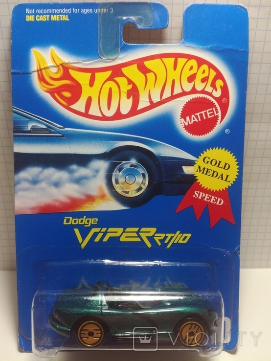 Hot Wheels Dodge Viper RT/10 (Gold Medal Speed) 1995 Malaysia, фото №2