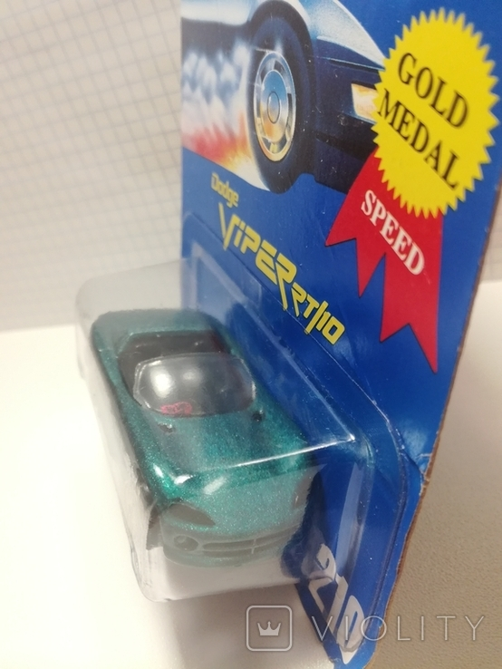 Hot Wheels Dodge Viper RT/10 (Gold Medal Speed) 1995 Malaysia, фото №8