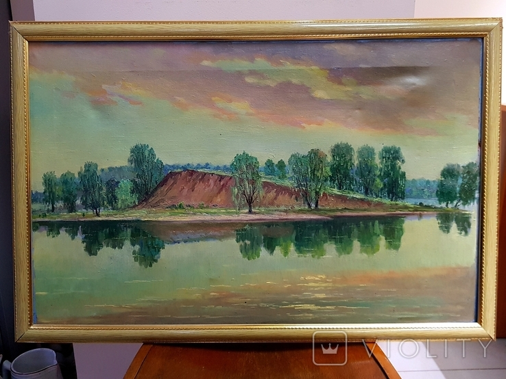 Картина маслом Руднев Н. 1960 год, фото №3