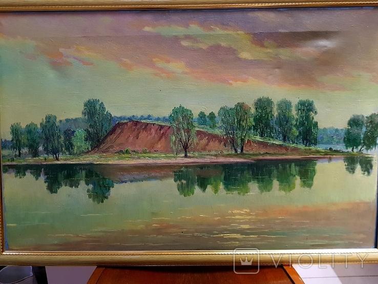 Картина маслом Руднев Н. 1960 год, фото №4