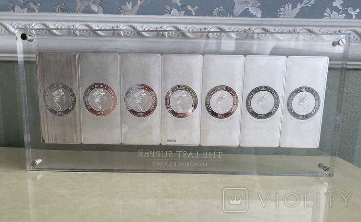 Монета. Тайная вечеря. Леонардо да Винчи. 2012 (серебро 999), фото №6