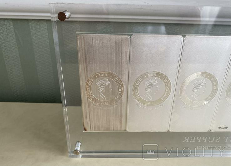 Монета. Тайная вечеря. Леонардо да Винчи. 2012 (серебро 999), фото №7