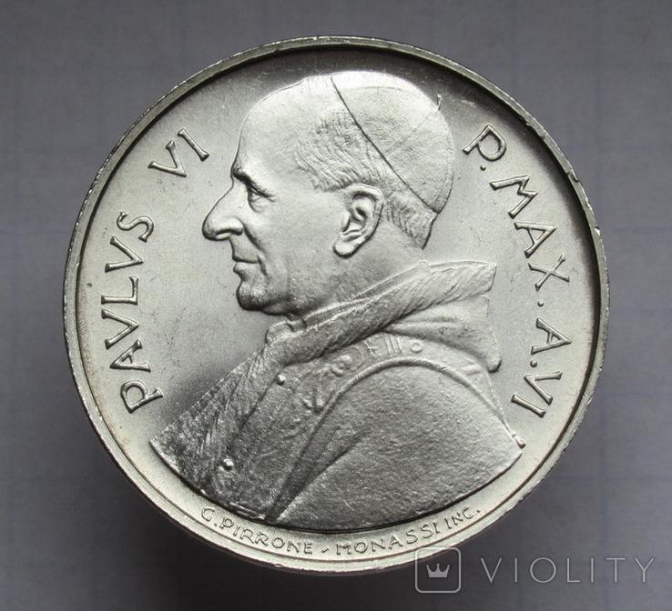 500 лир 1968 г. Ватикан, серебро, фото №3