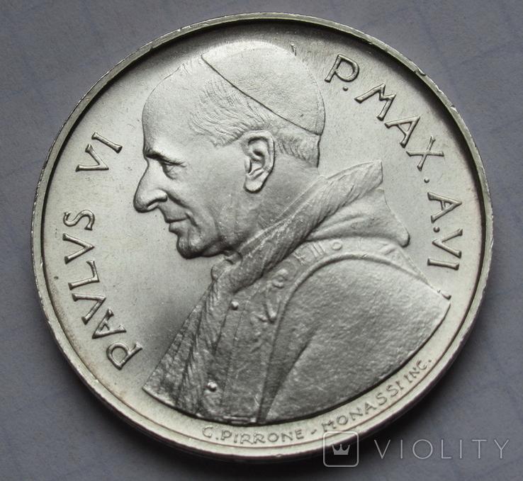500 лир 1968 г. Ватикан, серебро, фото №5