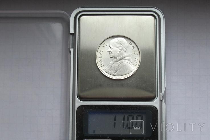 500 лир 1968 г. Ватикан, серебро, фото №13