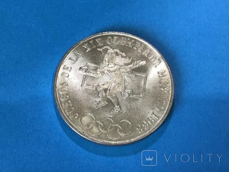 25 песо 1968 года. Мексика., фото №2