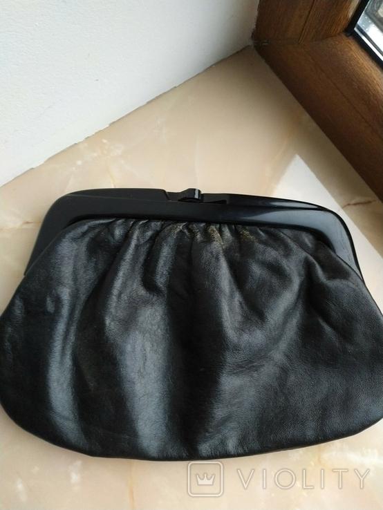 Винтажный клатч Италия.Genuine leather., фото №2