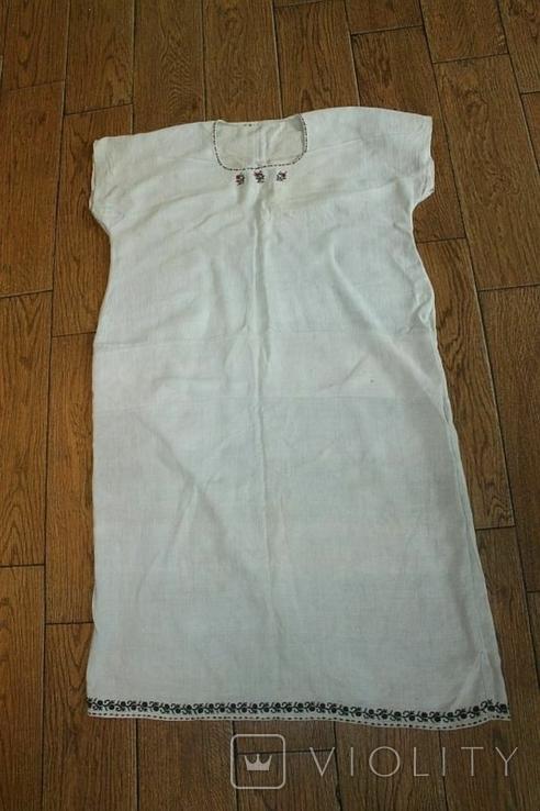 Сорочка вышиванка старинная №47, фото №3